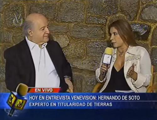 Entrevista a Hernando de Soto, economista peruano