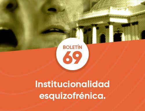 Boletín 69 | Institucionalidad esquizofrénica